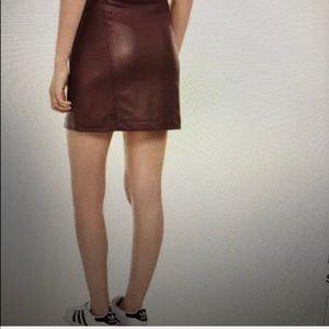 love, Fire Skirts - Juniors Faux-Leather Zipper Mini Skirt